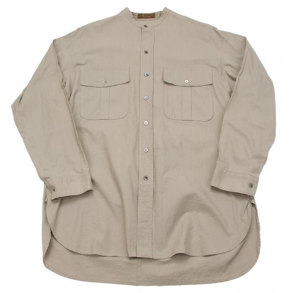 ワイズフォーメンY's for men コットンバンドカラーミリタリーシャツ グレーL位【中古】 【メンズ】