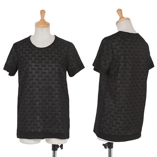 ワイズY's 重ねデザインドット柄Tシャツ 黒白M位【中古】