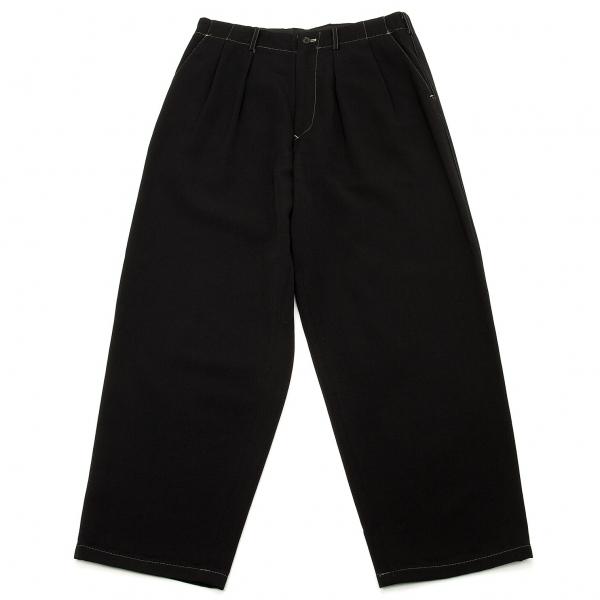ワイズフォーメンY's for men ステッチデザインウールパンツ 黒L【中古】