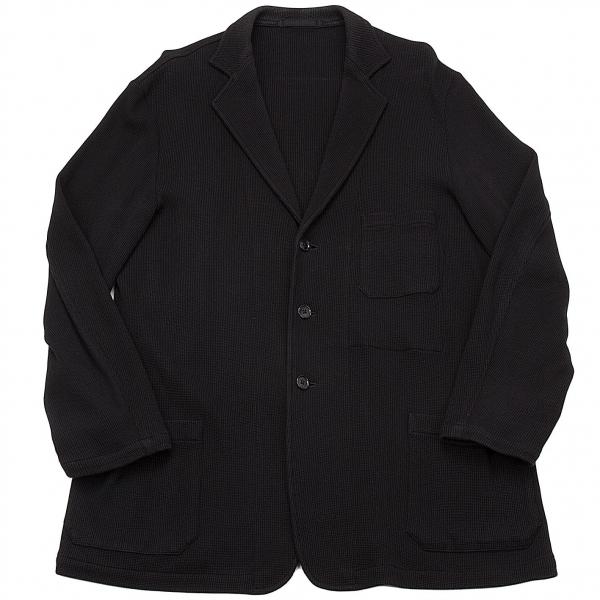 ワイズフォーメンY's for men 赤ラベル コットンワッフルテーラードジャケット 黒L【中古】