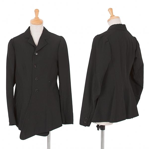 コムデギャルソンCOMME des GARCONS 裾変形パフスリーブジャケット 黒S【中古】