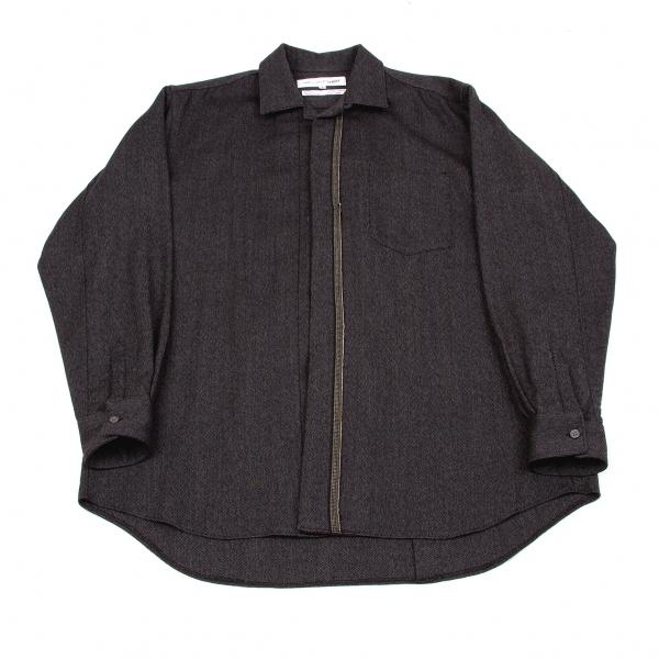 コムデギャルソンシャツCOMME des GARCONS SHIRT モヘア混長袖シャツ チャコールグレー茶他S【中古】 【メンズ】