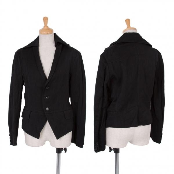 ワイズY's 混紡ショートジャケット 黒2【中古】