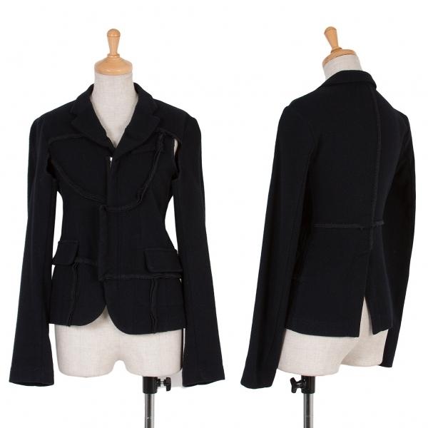 H&M コムデギャルソンCOMME des GARCONS インサイドアウトデザインジャケット 黒36【中古】