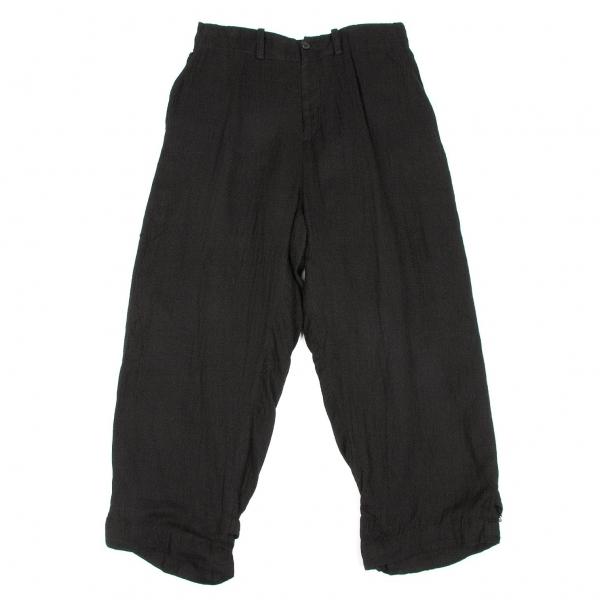 ワイズY's 裾ベルトワイドパンツ 黒2【中古】 【レディース】