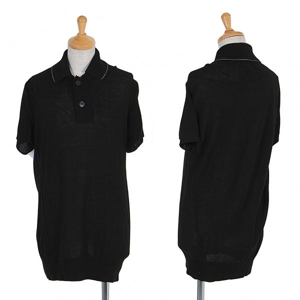ワイズY's コットンポロシャツ 黒2【中古】