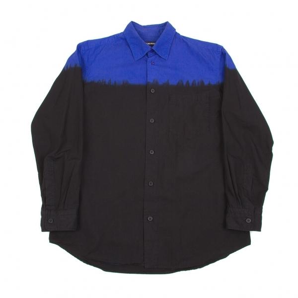 イッセイミヤケメンISSEY MIYAKE MEN バイカラー染め替えシャツ 青黒2【中古】 【メンズ】