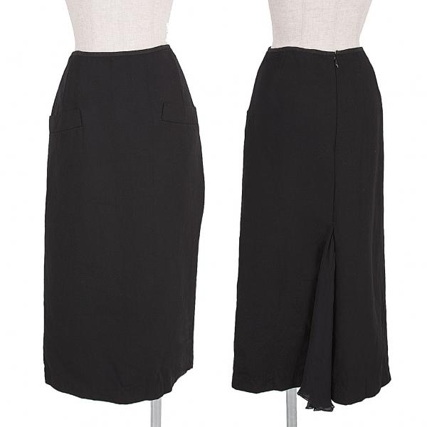 ヨウジヤマモト ファムYohji Yamamoto FEMME バック切替ポケットデザインスカート 黒1【中古】