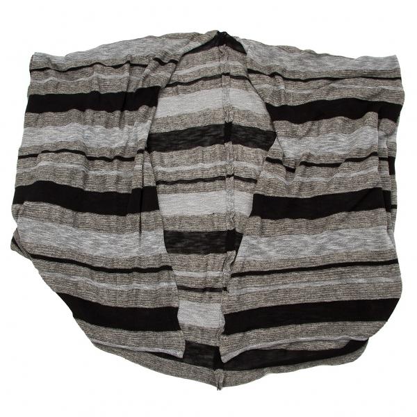 ヴィヴィアンウエストウッドマンVivienne Westwood MAN 混紡変形ボーダーカーディガン 杢グレー黒F【中古】 【メンズ】