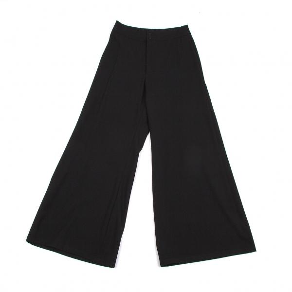 ワイズY's ウールギャバワイドパンツ 黒S【中古】