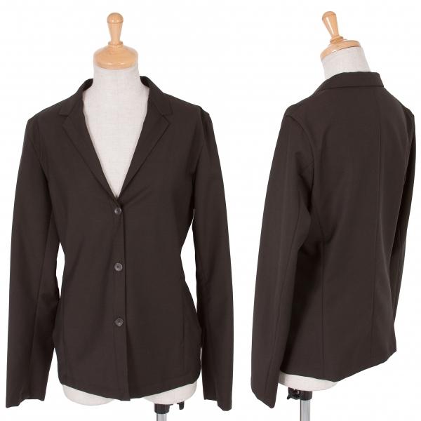 ジルサンダーJIL SANDER ウールモヘアシャツジャケット こげ茶34【中古】 【レディース】