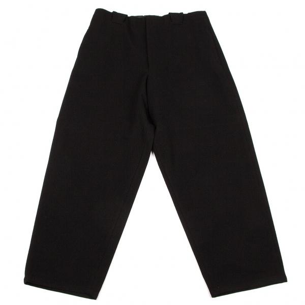 ワイズフォーメンY's for men ウール起毛ビッグシルエットパンツ 黒M【中古】