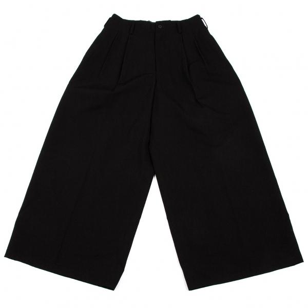 ワイズY's ウールギャバツータックワイドパンツ 黒M位【中古】 【レディース】