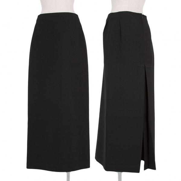 ワイズY's ウールギャバボックスプリーツスカート 黒3【中古】