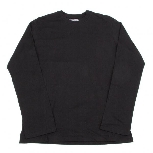 ヨウジヤマモトプールオムYohji Yamamoto pour homme サイドタグ長袖Tシャツ 黒4【中古】 【メンズ】