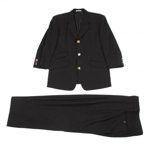 トキオクマガイTOKIOKUMAGAI ウールアンティークボタンセットアップスーツ 黒M【中古】