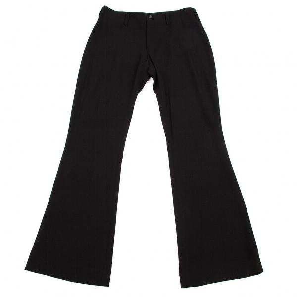 ワイズY's ブーツカットウールパンツ 黒M位【中古】 【レディース】