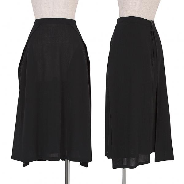 【SALE】ワイズY's サマーウールレイヤードデザインスカート 黒M位【中古】 【レディース】