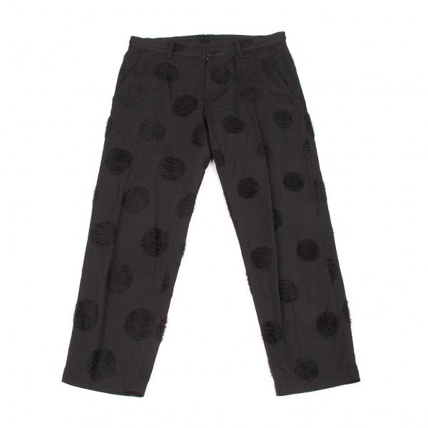 ワイズY's ポリコットンドット柄織パンツ 黒1【中古】 【レディース】