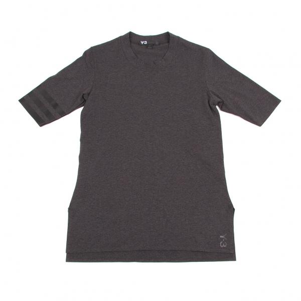 ワイスリーY-3 袖ライン半袖Tシャツ 濃杢グレーS/P【中古】 【レディース】