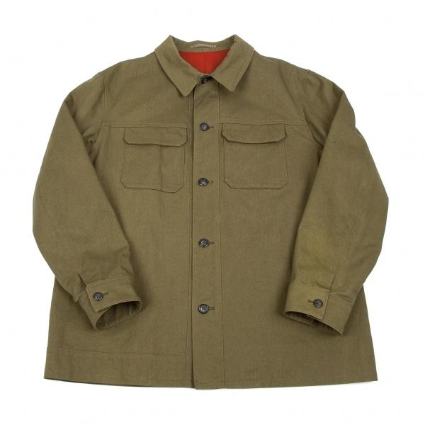 ワイズフォーメンY's for men コットンツイルフィールドジャケット カーキ赤4【中古】