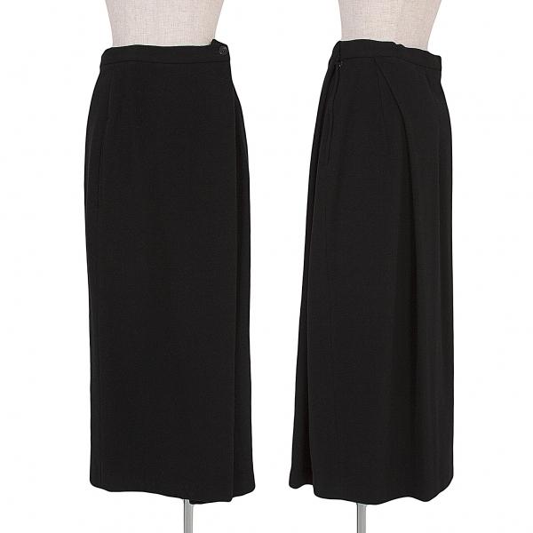 【SALE】ヨウジヤマモトファムYohji Yamamoto FEMME タックデザインスカート 黒S【中古】 【レディース】