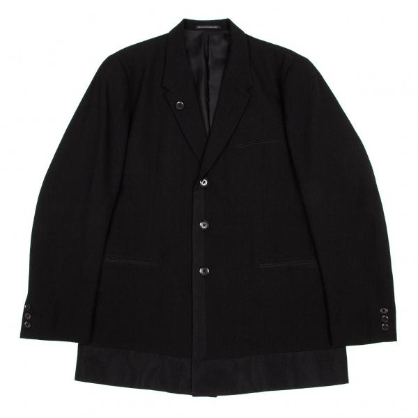 ヨウジヤマモトプールオムYohji Yamamoto pour homme切替デザインカシミヤ混ウールジャケット 黒3【中古】 【メンズ】
