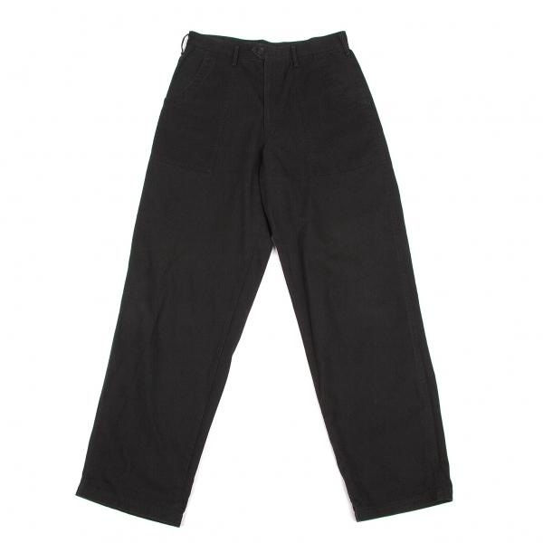 ワイズフォーメンY's for men コットンブッシュパンツ 黒M【中古】 【メンズ】