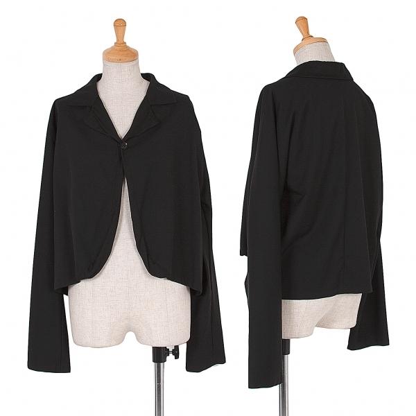 ワイズY's ウールギャバシャツジャケット 黒2【中古】