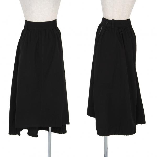 【SALE】ワイズY's コットンリネン裾絞りスカート 黒2【中古】 【レディース】