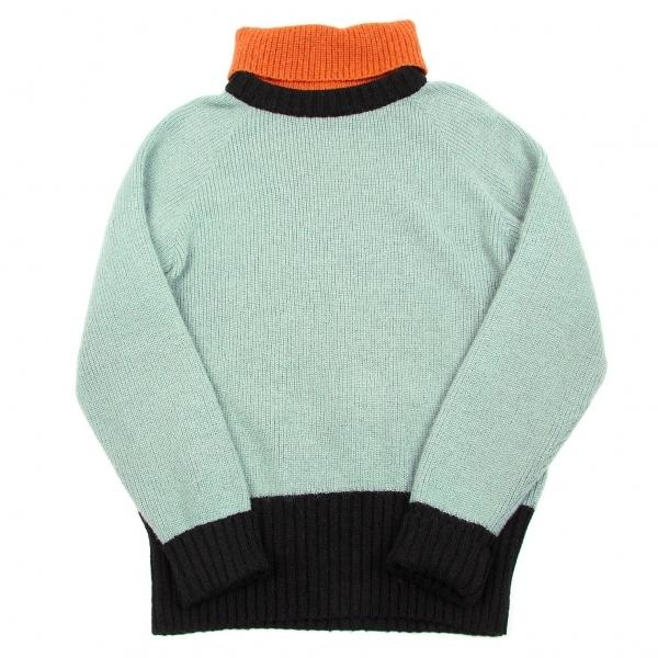 エンポリオアルマーニEMPORIO ARMANI ハイネックセーター 水色オレンジ黒48【中古】 【メンズ】