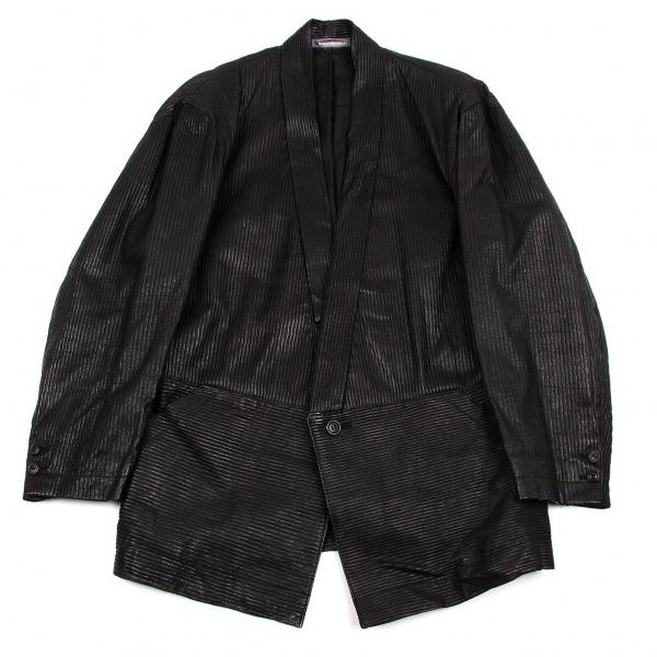 イッセイミヤケメンISSEY MIYAKE MEN ピッグスキン凹凸1Bジャケット 黒L【中古】 【メンズ】