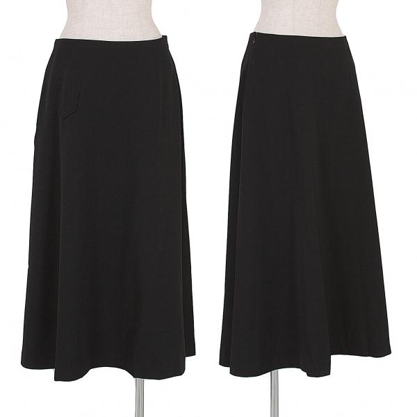 ワイズY's ミニポケット付ウールフレアースカート 黒3【中古】 【レディース】