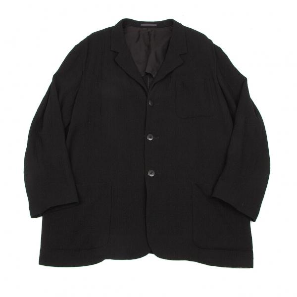 ワイズフォーメンY's for men ウールジョーゼットパッチポケットジャケット 黒M【中古】
