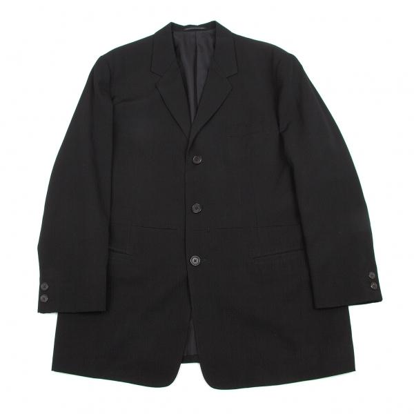 ヨウジヤマモトプールオムYohji Yamamoto POUR HOMME ウールギャバポケットデザインジャケット 黒S【中古】