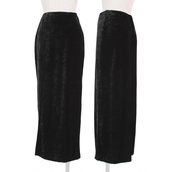 ワイズY's ベロアラップデザインスカート 黒M位【中古】 【レディース】