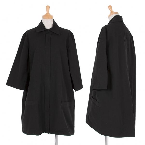 ワイズY's コットン五分袖ジップジャケット 黒3【中古】