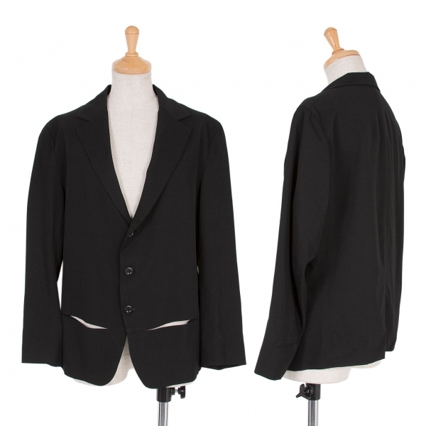 ワイズY's ウールカットポケットジャケット 黒3【中古】 【レディース】
