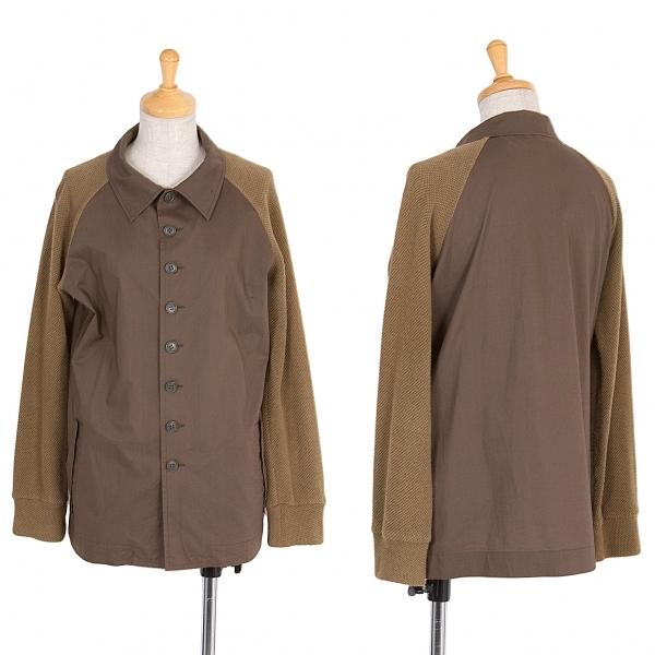 ワイズY's コットンラグラン切り替えシャツジャケット カーキ3【中古】 【レディース】