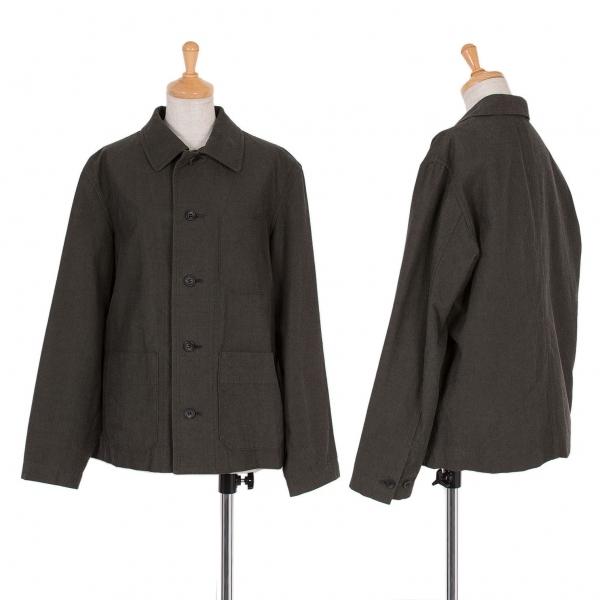 ワイズY's コットンパッチポケットジャケット 淡黒3【中古】 【レディース】