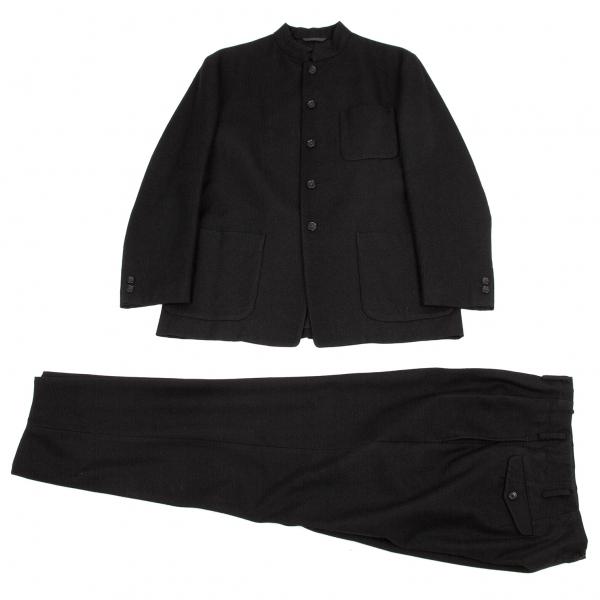 ワイズフォーメンY's for men 赤ラベル ウールマオカラーセットアップスーツ 黒3【中古】