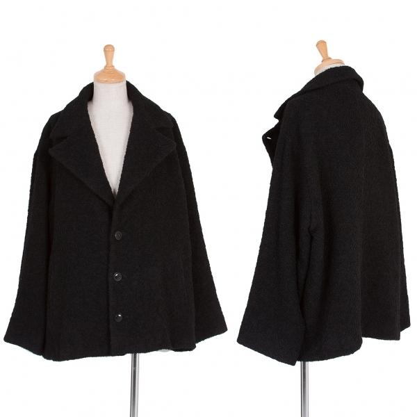 ワイズY's ウールナイロンビッグラペル浮き糸ジャケット 黒2【中古】