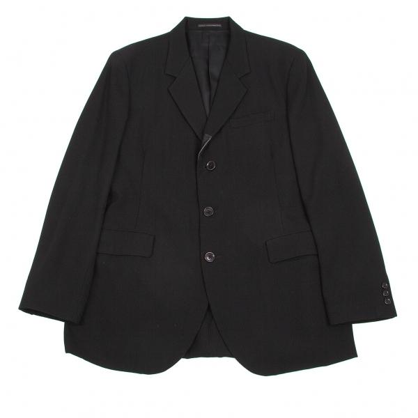 ワイズフォーメンY's for men ラムレザー切替オールドギャバ3Bジャケット 黒4【中古】 【メンズ】