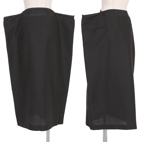 ヨウジヤマモト ファムYohji Yamamoto FEMME ウエストジップ袋デザインスカート 黒2【中古】 【レディース】