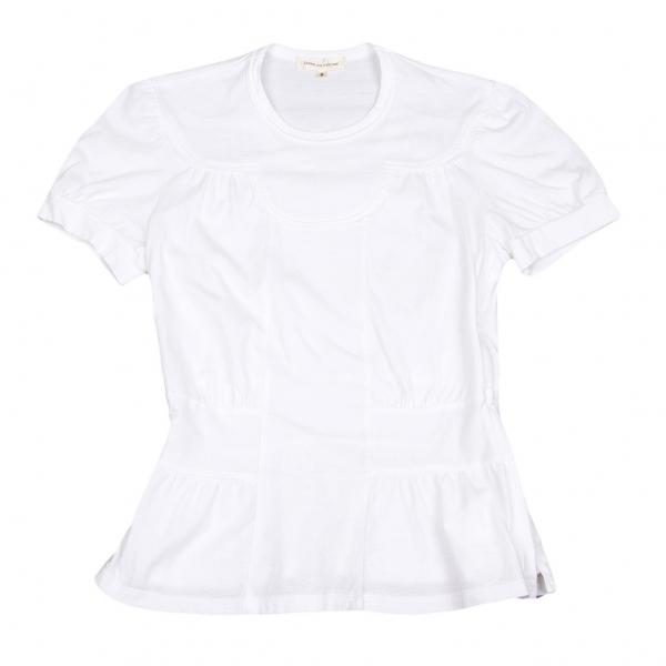 コムデギャルソンCOMME des GARCONS 切替サイドジップTシャツ 白S【中古】 【レディース】