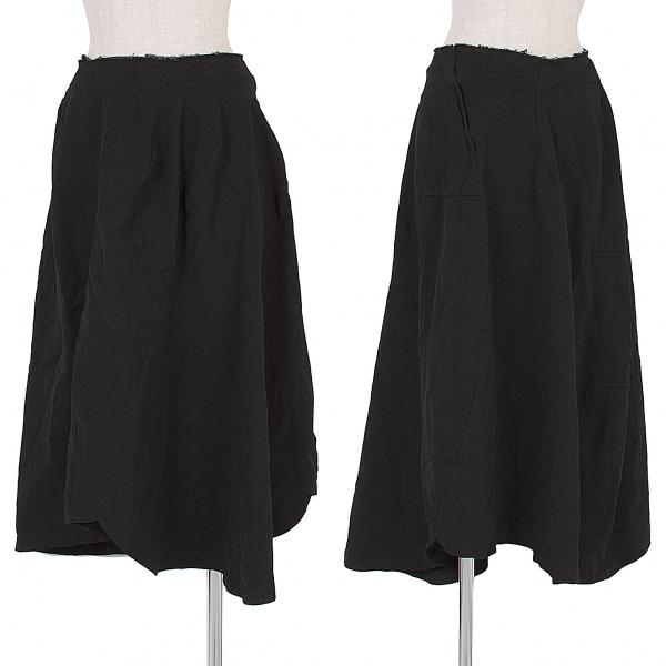 コムデギャルソンCOMME des GARCONS ポリ製品染めカーブ切替スカート 黒M位【中古】 【レディース】