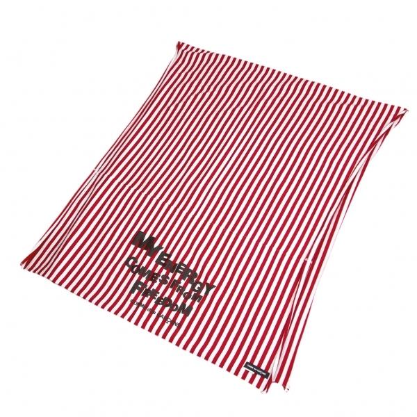コムデギャルソンCOMME des GARCONS ボーダープリントストール 赤白黒【中古】