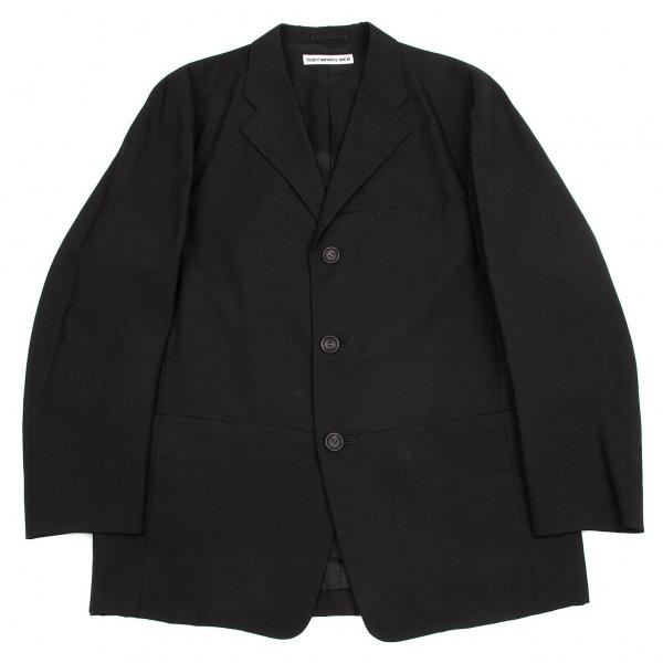 イッセイミヤケ メンISSEY MIYAKE MEN テーラード3Bウールジャケット 黒3【中古】