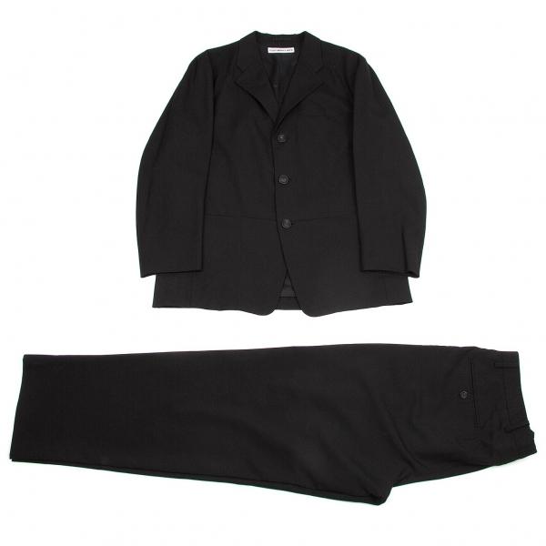イッセイミヤケ メンISSEY MIYAKE MEN テーラード3Bウールセットアップスーツ 黒3/M位【中古】 【メンズ】