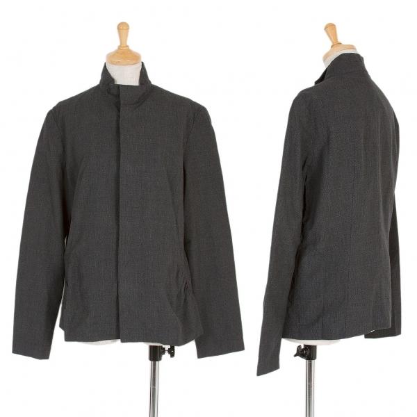 新品!ワイズY's グレンチェックスナップボタンコットンジャケット 濃淡霜降りグレー3 【レディース】